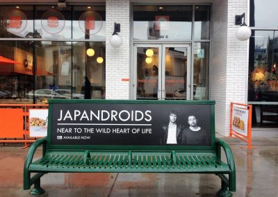 Japandroids Bus Bench Advertising Los Angeles