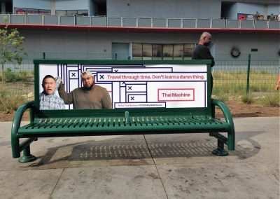 Maker Studios Bus Bench Ad West Los Angeles