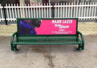 Major Lazor Bus Bench Ad Hollywood