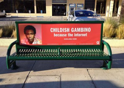 Childish Gambino Bench Ad Downtown Los Angeles