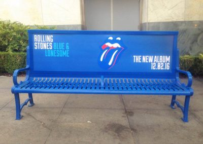 The Rolling Stones Bench Ad Hollywood