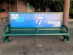 Bus Bench Ad in Los Angeles for Rolling Stones