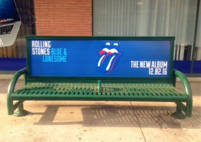 Bus Bench Ad in Los Angeles on Robertson for Rolling Stones