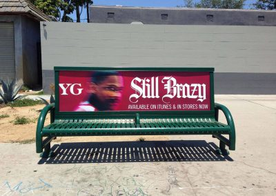 YG Bench Advertising Los Feliz