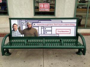 Bus Bench Ad Thai Machine