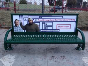 Bus Bench Ad Thai Machine
