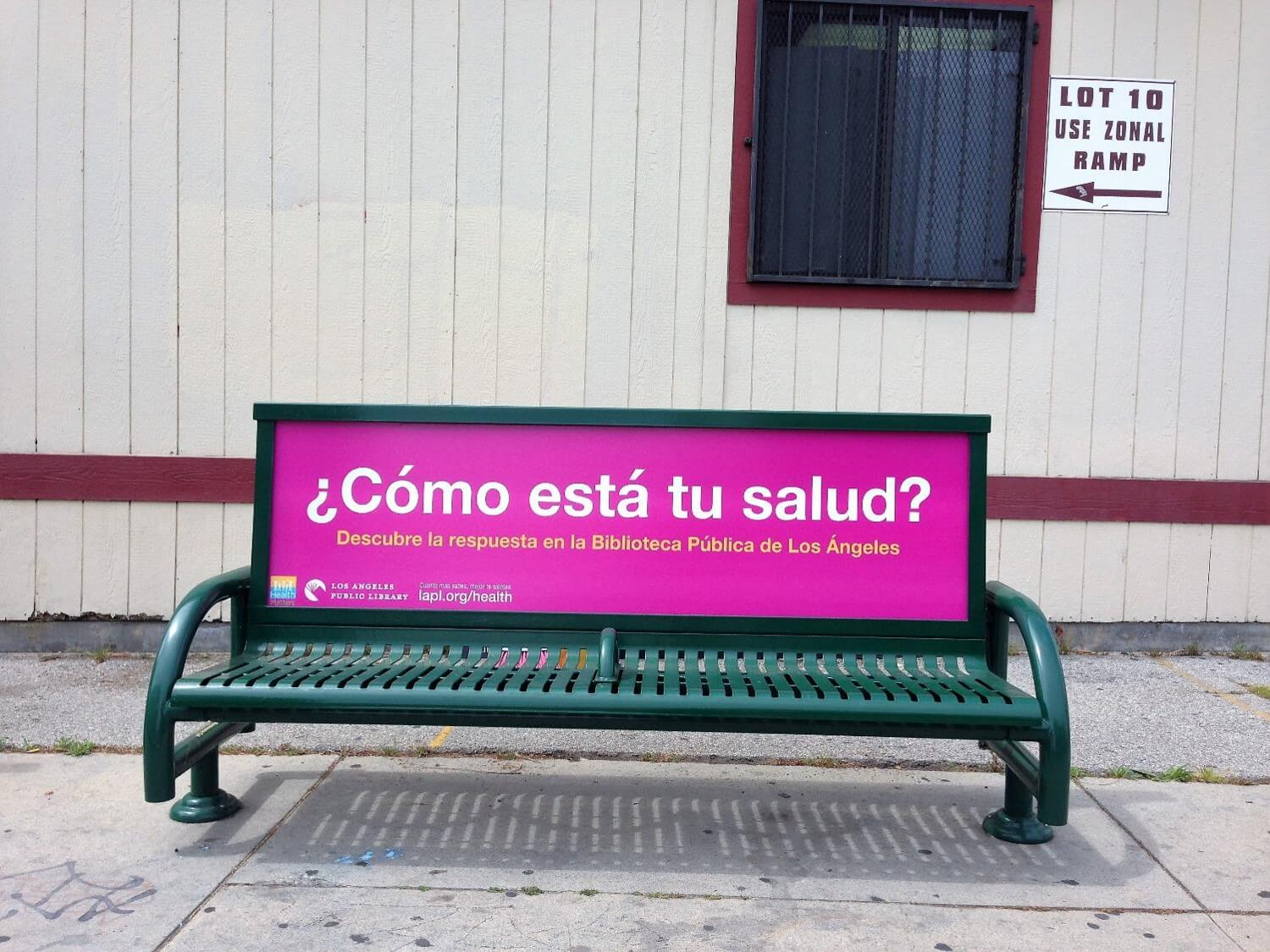 advertising campaign for bench Sized at approximately 25 by 65 feet, bus bench ads tend to be cheaper per unit than other forms of outdoor mass advertising the latest bus advertising campaign by adidas for the brazil world cup 2014 made use of full wrap and window coverage techniques.